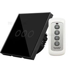3-way Remote Control Touch Switch Wall-mount