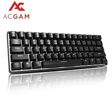 ACGAM 61 Keys Mechanical Gaming Keyboard with White Backlit outemu Blue switches