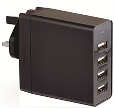40W 4-Port USB Wall Charger - Black