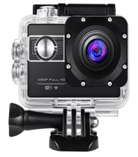 Action Camera WiFi 1080P Full HD 12MP Waterproof 30M Large 2.0 LCD
