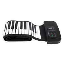 Portable 88 Keys Silicone Flexible Roll Up Piano