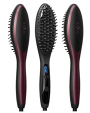 Electric Ceramic Hair Straightener Brush With Anion Hair Care