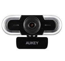 Aukey Webcam 2K HD with Auto Light Adjustment with Mic PC-LM1A