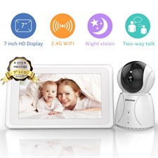 Wireless & Wi-Fi Video Baby Monitor HD 720P 7 inch IPS Touch Screen