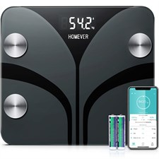 Homever Smart Fat Body Weighing Scale with 13 Essential Health Measurements