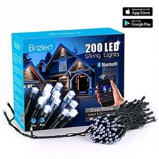 Brizled Bluetooth Smart 200 LED Christmas String Lights Cool White