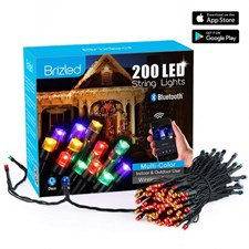 Brizled - 200 LED Bluetooth Dimmable String Lights Multi Color
