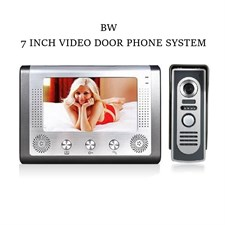 BW 7 Inch Wired Video Door Phone Doorbell Intercom Entry System