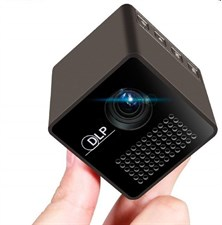 P1+ Wifi Mini Portable Projector Builtin Battery with SD Card Support