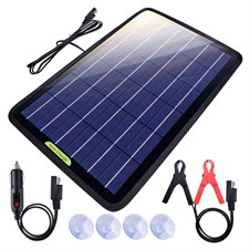 ECO-WORTHY Portable Power Solar Car Battery Charger 12 Volts 10 Watts
