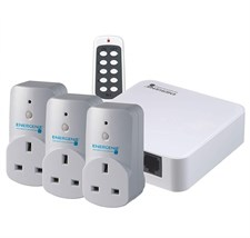 Home Automation Hub Kit And Smart Plugs Alexa-Compatible Pack of 3