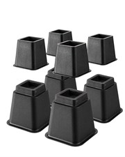 Adjustable Bed Risers Bed Lifter Set Of 8