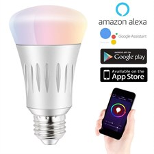7W RGB LED Smart WiFi Led Bulb Dimmable Works with ALEXA & Google Home