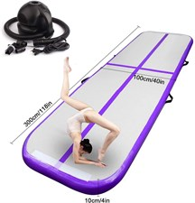 FBSPORT Tumbling Mat Inflatable Gymnastics Airtrack 300*100*10cm with Electric Air Pump