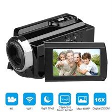 "4K Digital Video Camera 48MP 16X Digital Zoom 3.0"" Touch Screen"