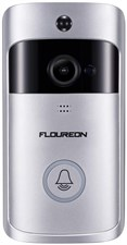 FLOUREON Smart WiFi Video Doorbell 720P HD Video Doorbell Camera with PIR Motion Detection, Night Vi