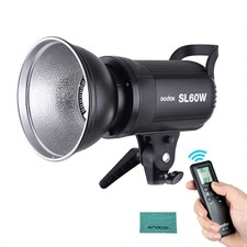 CRI 95+ LED Video Light White 5600K Version 60WS Bowens Mount + Remote Controller + Reflector