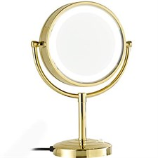 8.5-Inch Tabletop Double-Sided LED Lighted Make-up Mirror with 10x Magnification