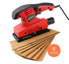 135 Watt 1/3 Sheet Orbital Sander with 9 Piece Sand Paper Kit