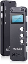 Homder Digital Voice Recorder 8GB USB Professional Dictaphone with MP3 Player