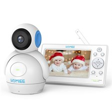 Video Baby Monitor HD 720P 5 inch LCD Display Pan Tilt Camera & 1000 Feet Range