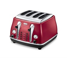 icona Micalite 4 Slice Toaster - Red