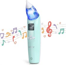 Intey Electric Baby Nasal Aspirator with Music and 3 Colors Flashing Lights for Infants & Toddlers