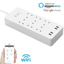 WiFi Smart Power Strip Surge Protector with 6 Sockets 4 USB Port