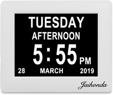 "Jaihonda 8"" Digital Clock Calendar and Digital Photo Frame"