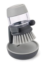Palm Scrub Soap Dispensing Washing Brush with Storage Stand