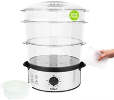 Kitdget 12L Electric Food Steamer 800 W 3-Tier BPA Free