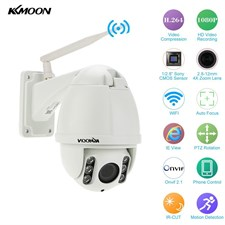 KKMOON Onvif 4X Optical Zoom HD 1080P 2.8-12mm Auto-focuss PTZ Wireless WiFi IP Camera