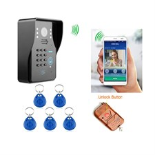 KKmoon WIFI Video Door Phone System with Card Unlock Remote Wireless Control