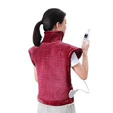 Electric Heating Pad Neck Shoulder and Back Heating Wrap Back Pain, Sorness, Stress Relief Fast-Heat