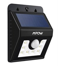 Mpow Solar Lights Motion Sensor 3-in-1 Waterproof - Outdoor Lights (3 Intelligient Modes, 8 LED)