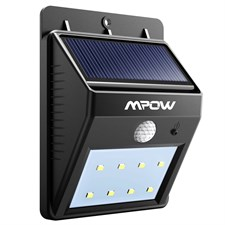 8 Led Bright Solar Powered Security Light With Motion Sensor