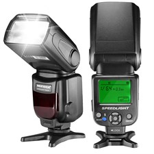 LCD Display Speedlite Flash For DSLR with Standard Hot Shoe