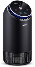 PARTU Air Purifier with True HEPA Filter, 3 Speeds, Night Light, Portable Purifiers 99.97% Bacteria,