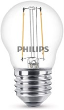 2 W LED Classic Mini Globe Filament Warm White Light Bulb E27