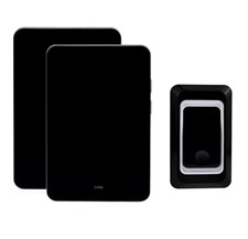 Portable Wireless digital Doorbell,No Batteries Required for Receivers