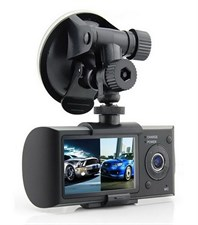 "R300 2.7"" Dual Camera Car Dash Board HD Camera DVR HD Black Box + GPS Logger"