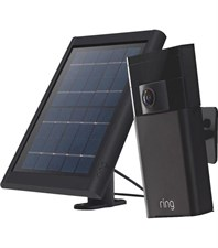 Stick Up Security Camera with Solar Charger - Black