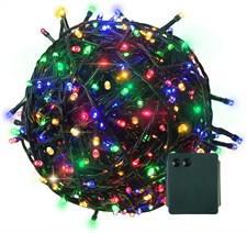 RPGT 103 Feet 300 LED String Fairy Lights Battery Operated with 8 Light Effects for Home Decoration