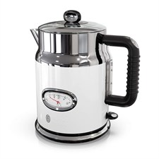 Retro Style 1.7L Electric Kettle Stainless Steel - White