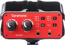 Saramonic PAX1 DSLR Preamp, Audio Mixer, Dual XLR Microphone Adapter with Phantom Power