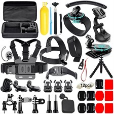 50 In 1 Action Camera Accessories Kit For Gopro Hero 6 5 4 3 With Carrying Case