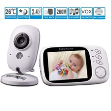 3.2 inch LCD Wireless Digital Audio Video Baby Monitor