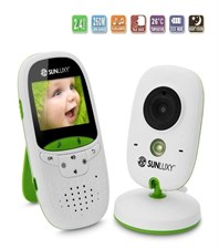Sunluxy - Wireless Digital Video Baby Monitor 2.0 Inch Lcd