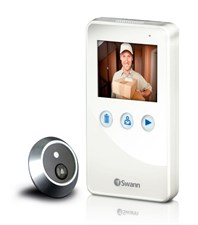DoorEye Peephole Video Camera Door Viewer Doorbell - White