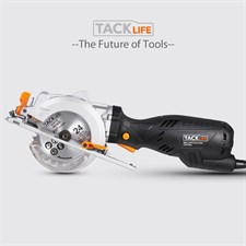 Tacklife Compact Circular Saw 4-1/2 inch with 3X24T Blades - 5.8A 3500 rpm
